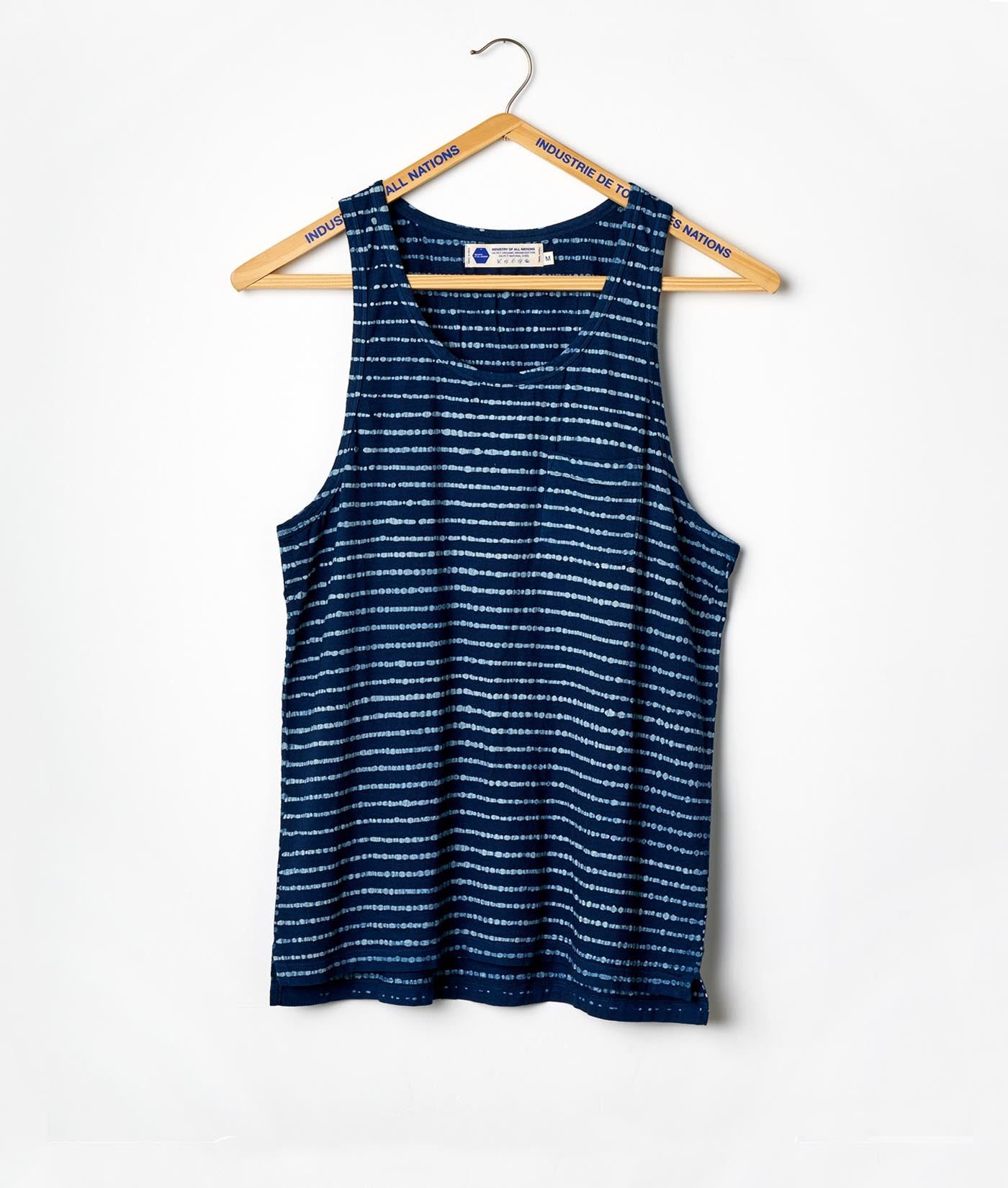 Pocket Tank - Batik Stripes