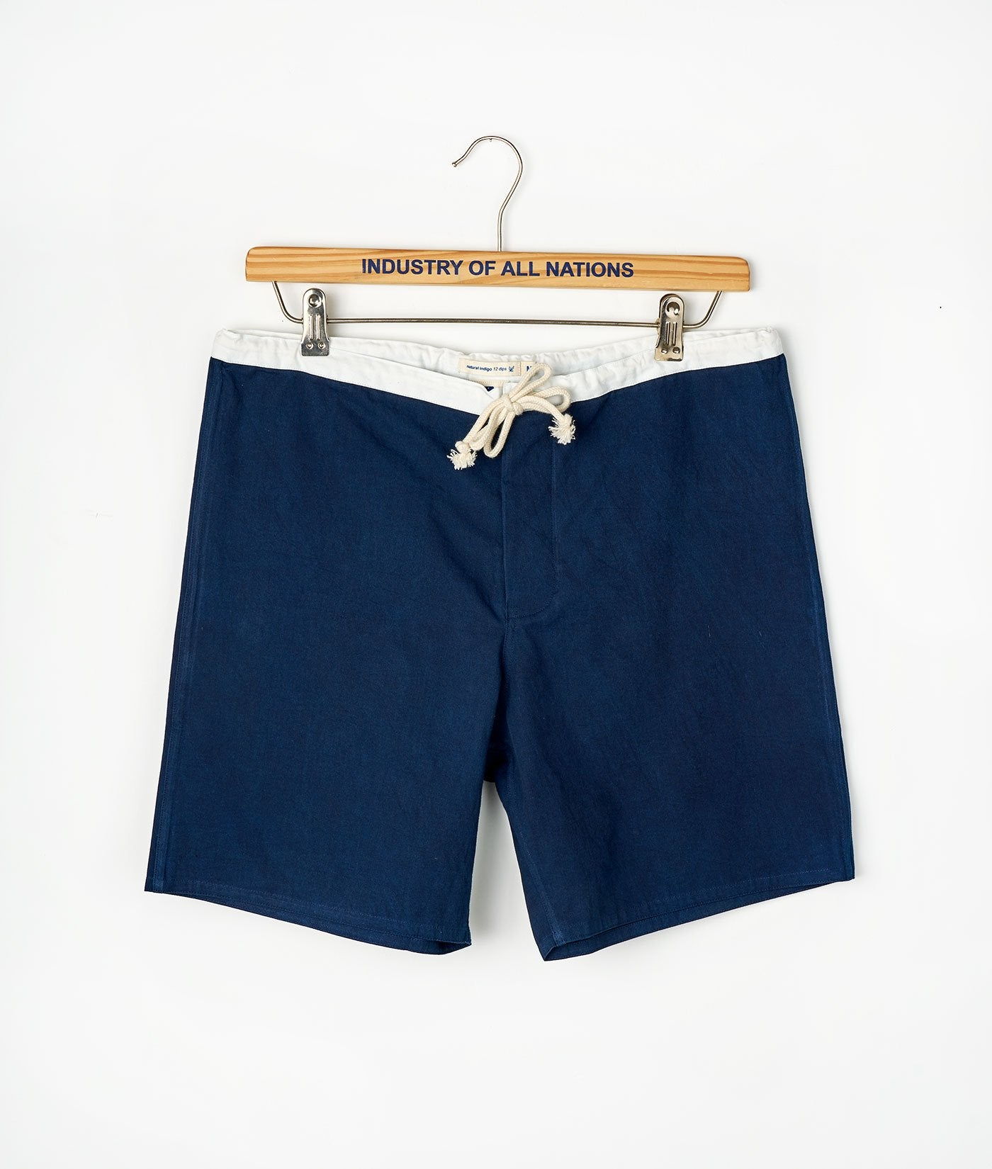 Industry of All Nations Organic Cotton Drawstring Boardshorts Indigo 12
