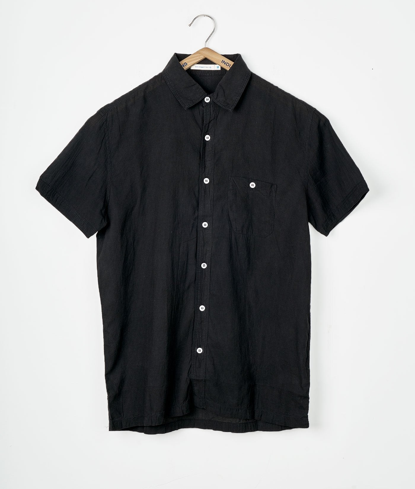 Industry of All Nations Madras Organic Cotton Short Sleeve Shirt Iron 8