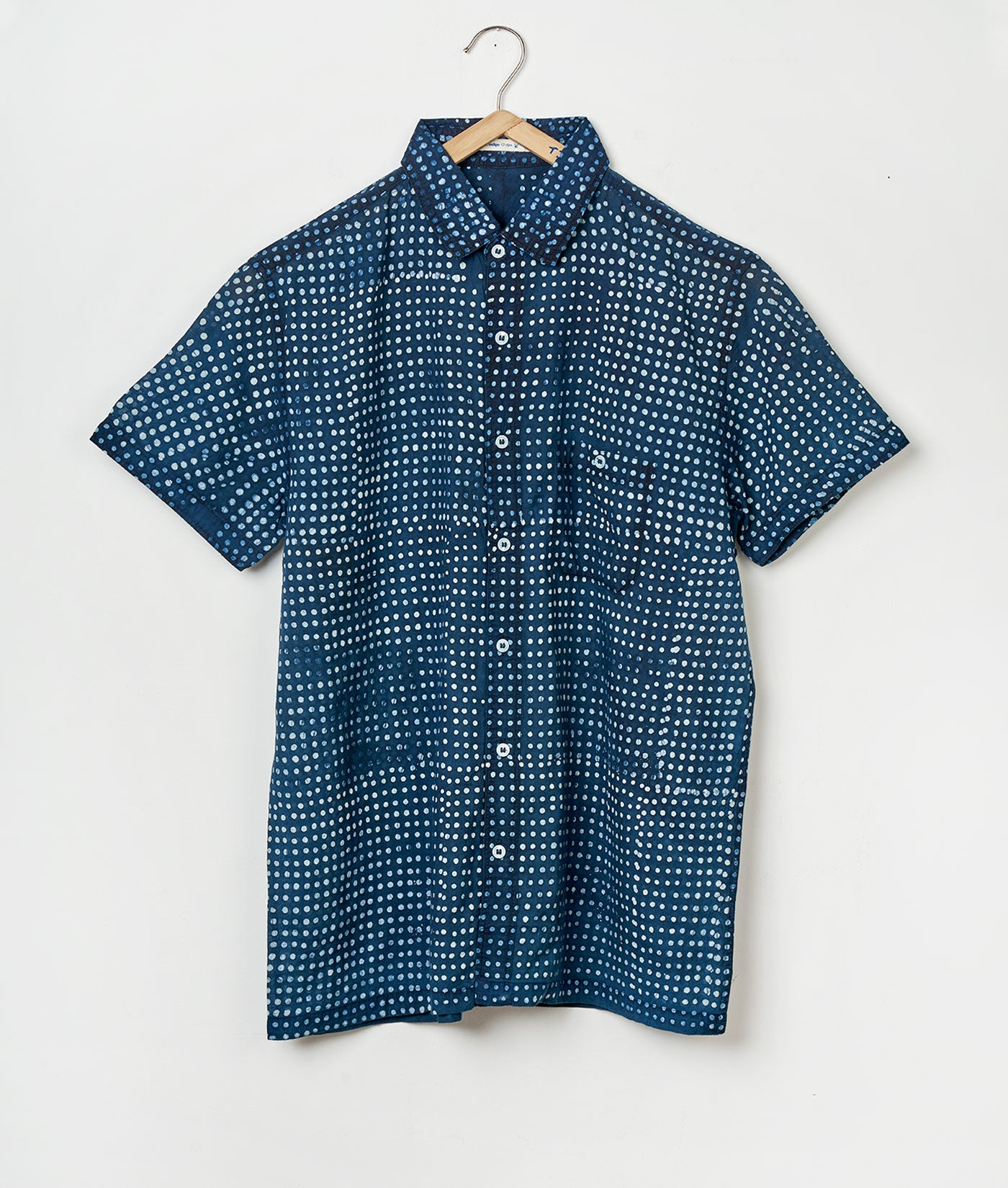 Industry of All Nations Batik Pixels Short Sleeve Button Down Shirt