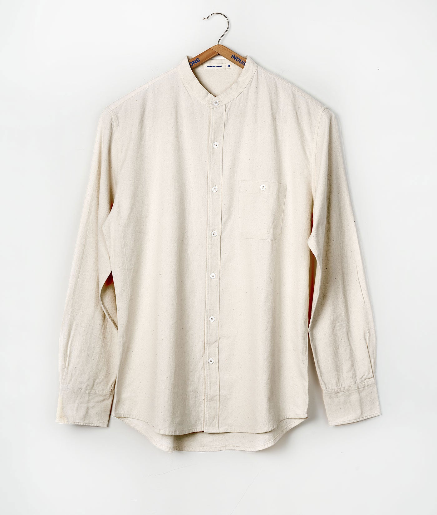 Industry of All Nations Mao Collar Shirt Natural