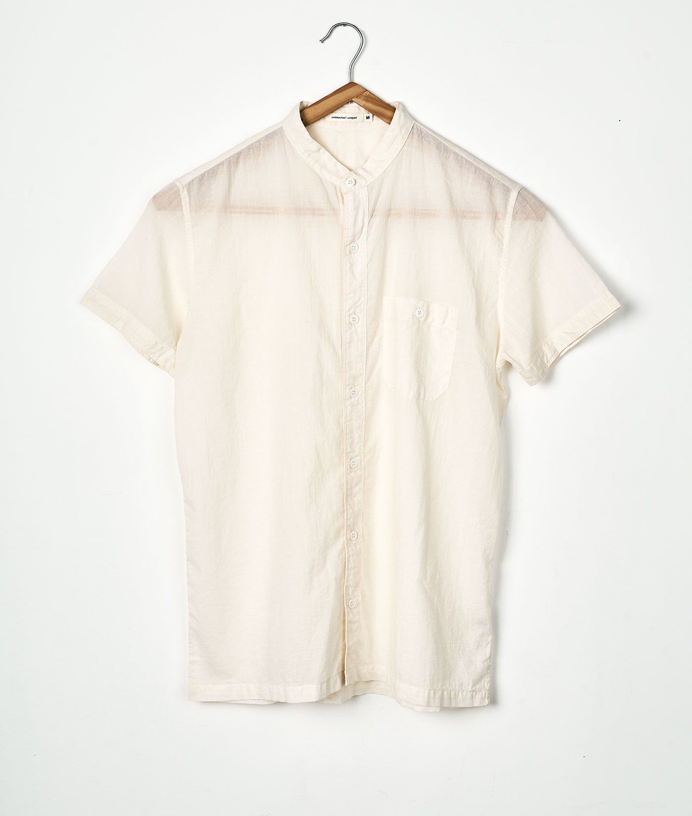 Industry of All Nations Lightweight Sheer Button Down Shirt Natural 2
