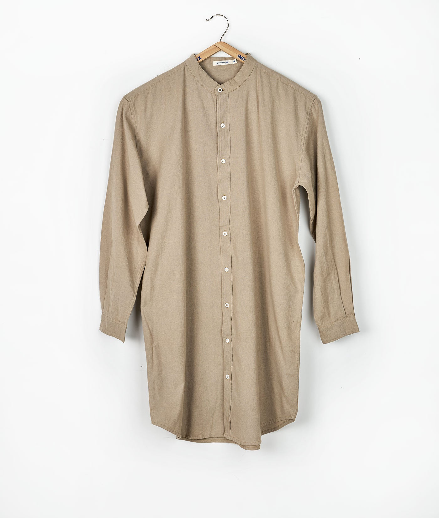 Mao Madras Shirt Long Cut - Heavy