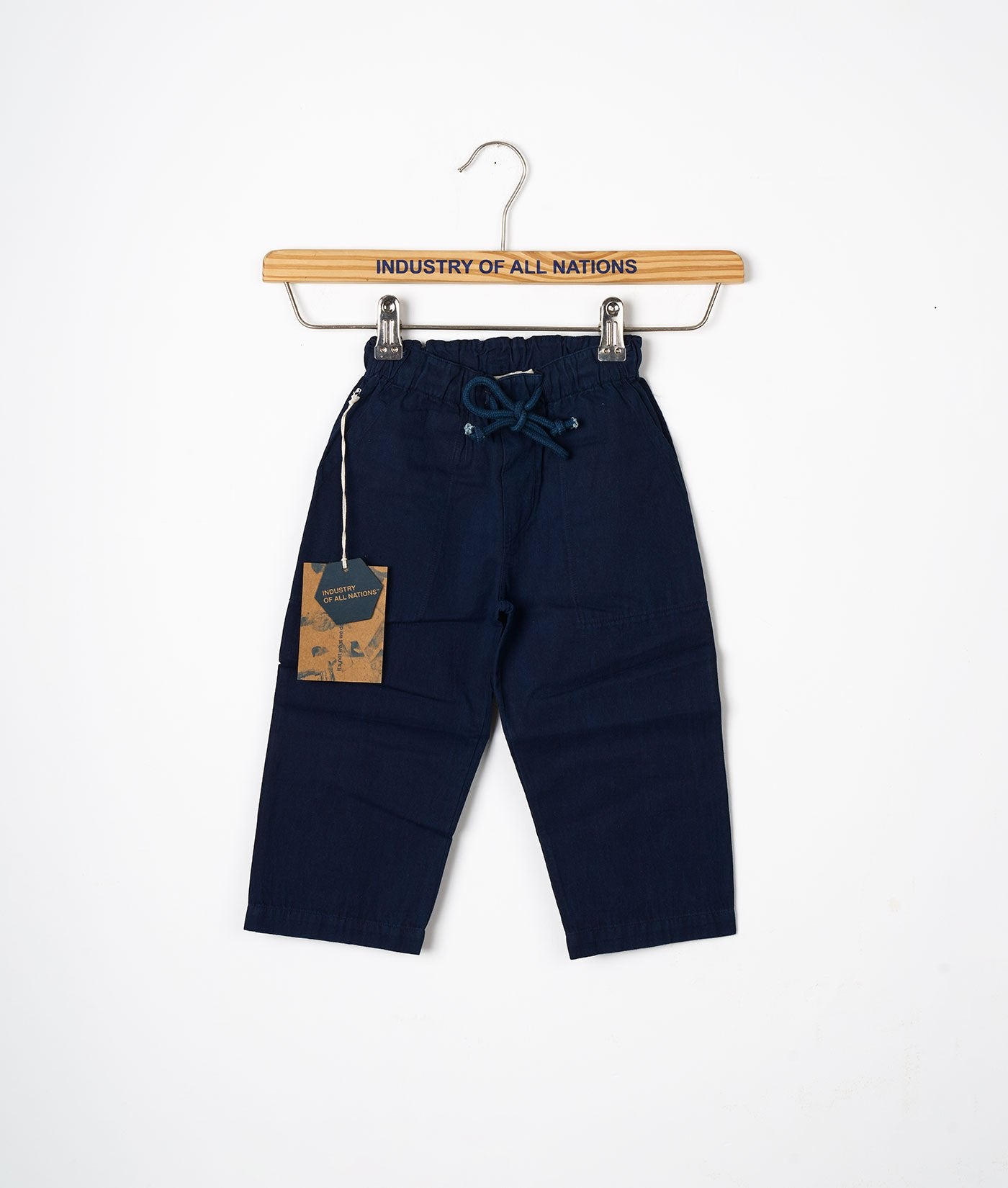 Industry of All Nations Organic Cotton Kids Drawstring Pants Indigo 12