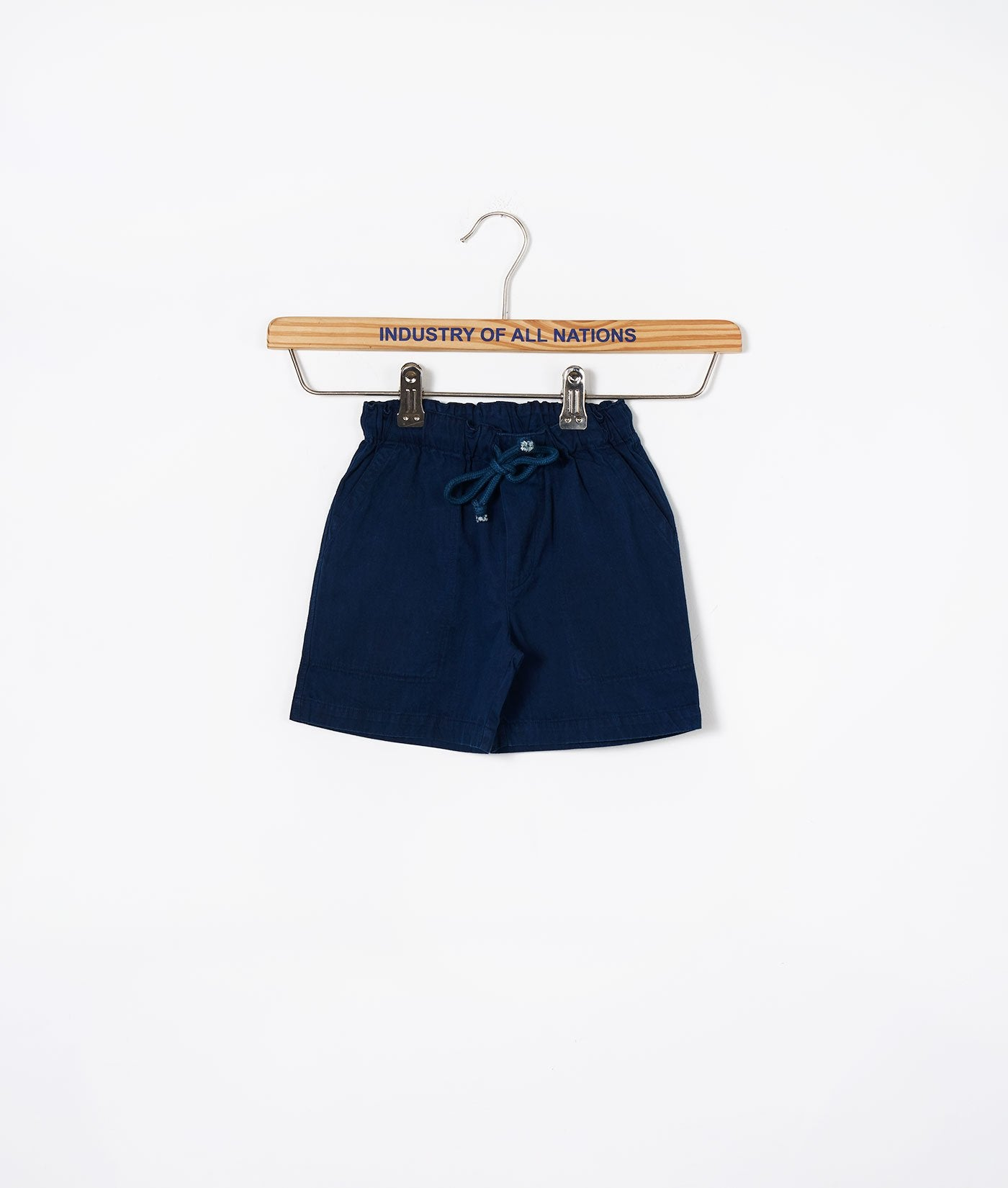 Industry of All Nations Organic Kids Drawstring Shorts  Indigo 12