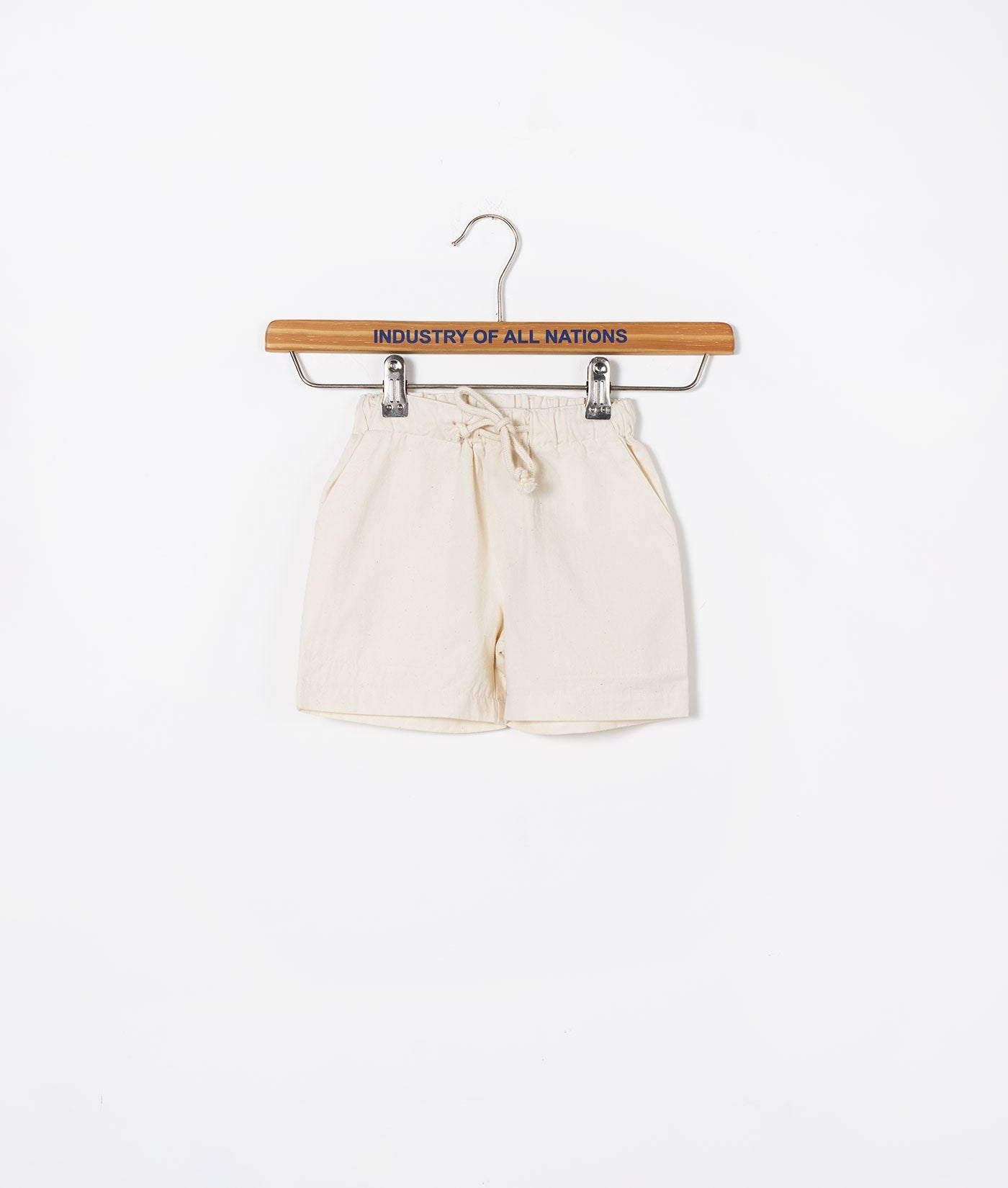 Industry of All Nations Organic Kids Drawstring Shorts  Natural
