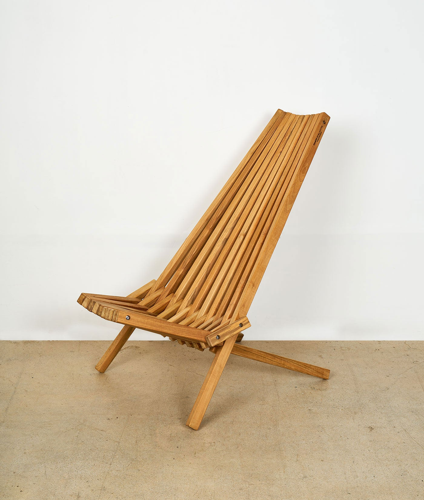 Industry of All Nations Panamericana Teak Wood Folding Chair