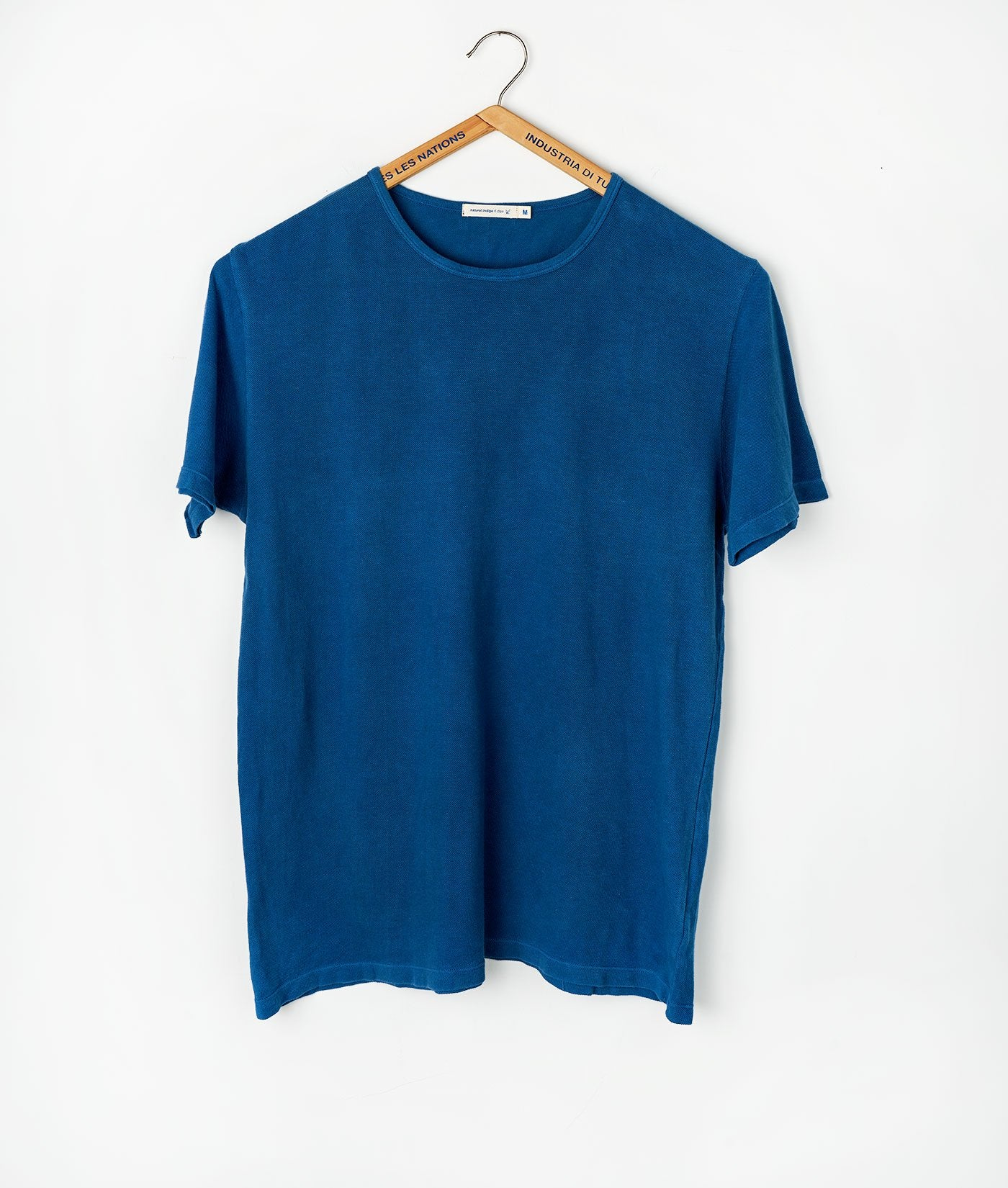 Industry of All Nations Pique Crew Neck T-Shirt Indigo 6