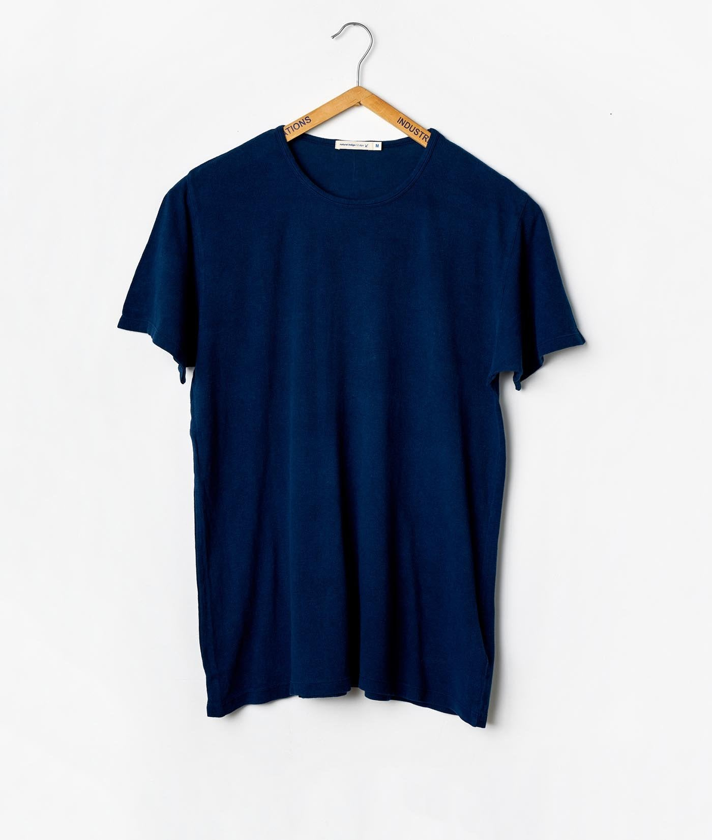Industry of All Nations Pique Crew Neck T-Shirt Indigo 12