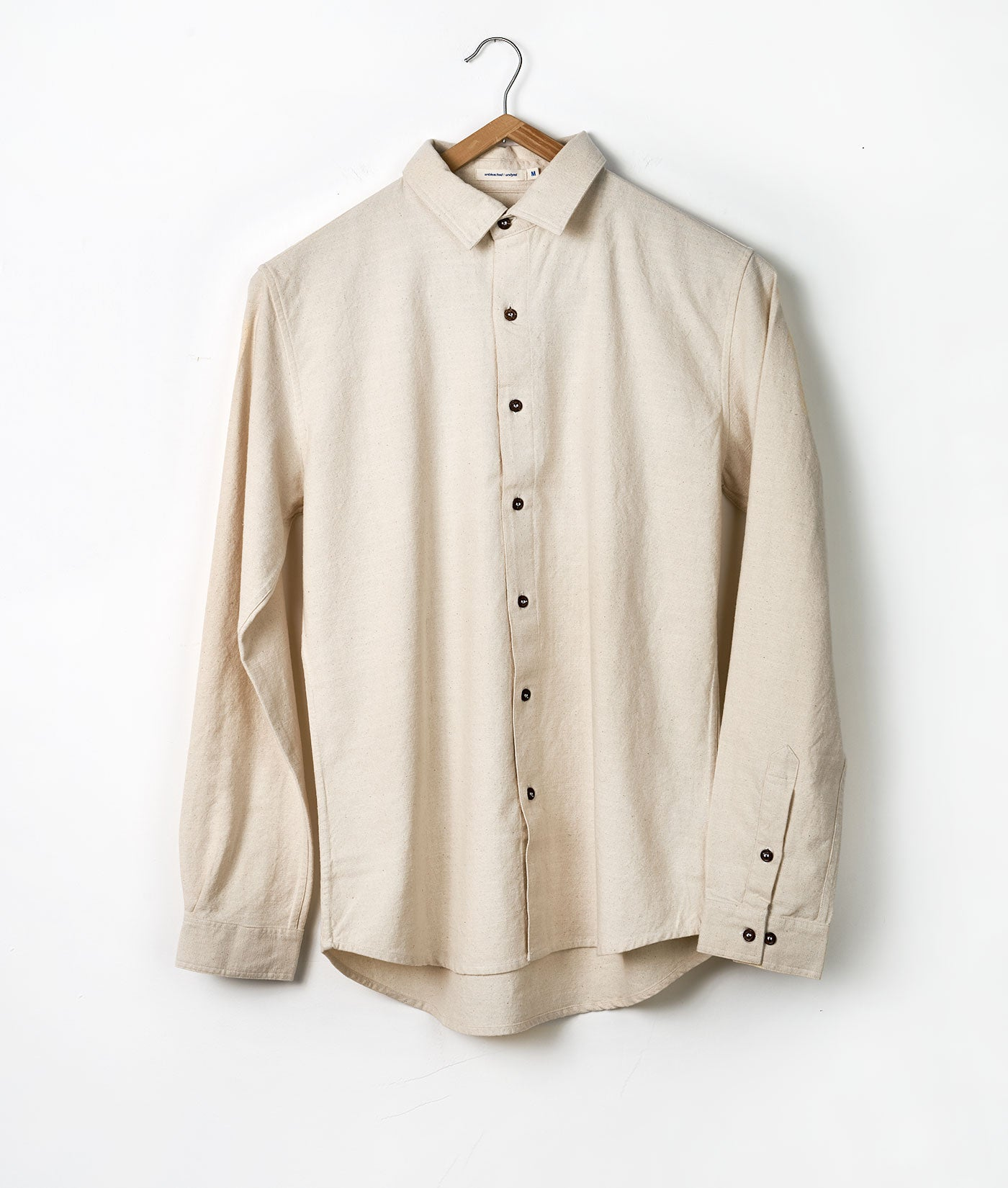 Industry of All Nations Classic Button Down Slub Shirt Natural