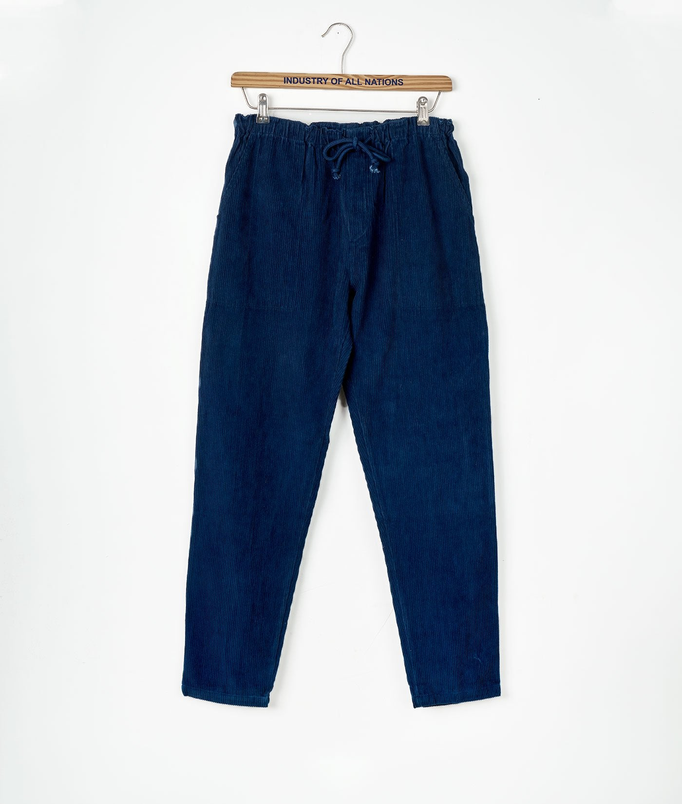 Industry of All Nations Organic Cotton Drawstring Corduroy Pants Indigo 12