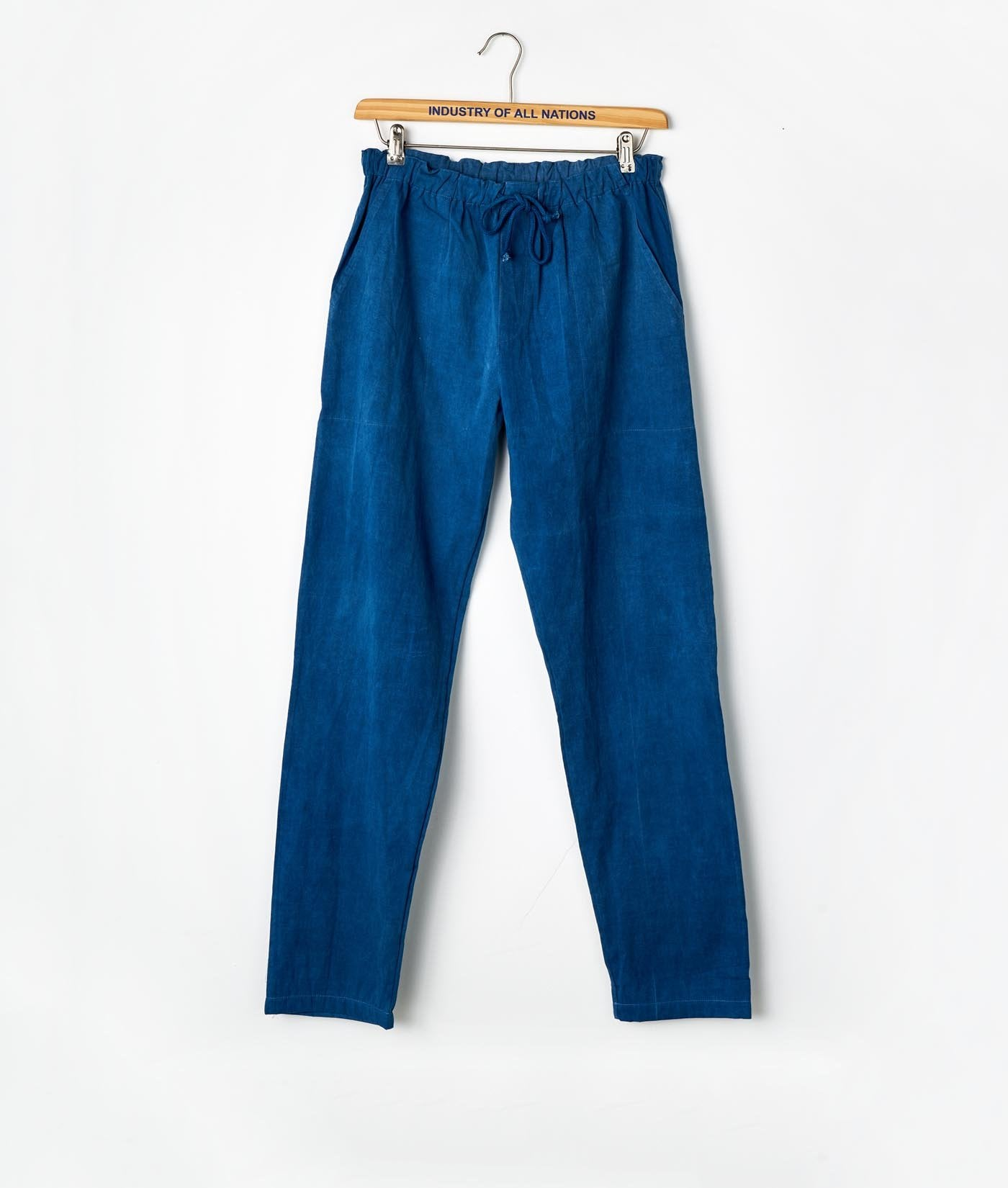 Industry of All Nations Organic Cotton Drawstring Pants Indigo 6