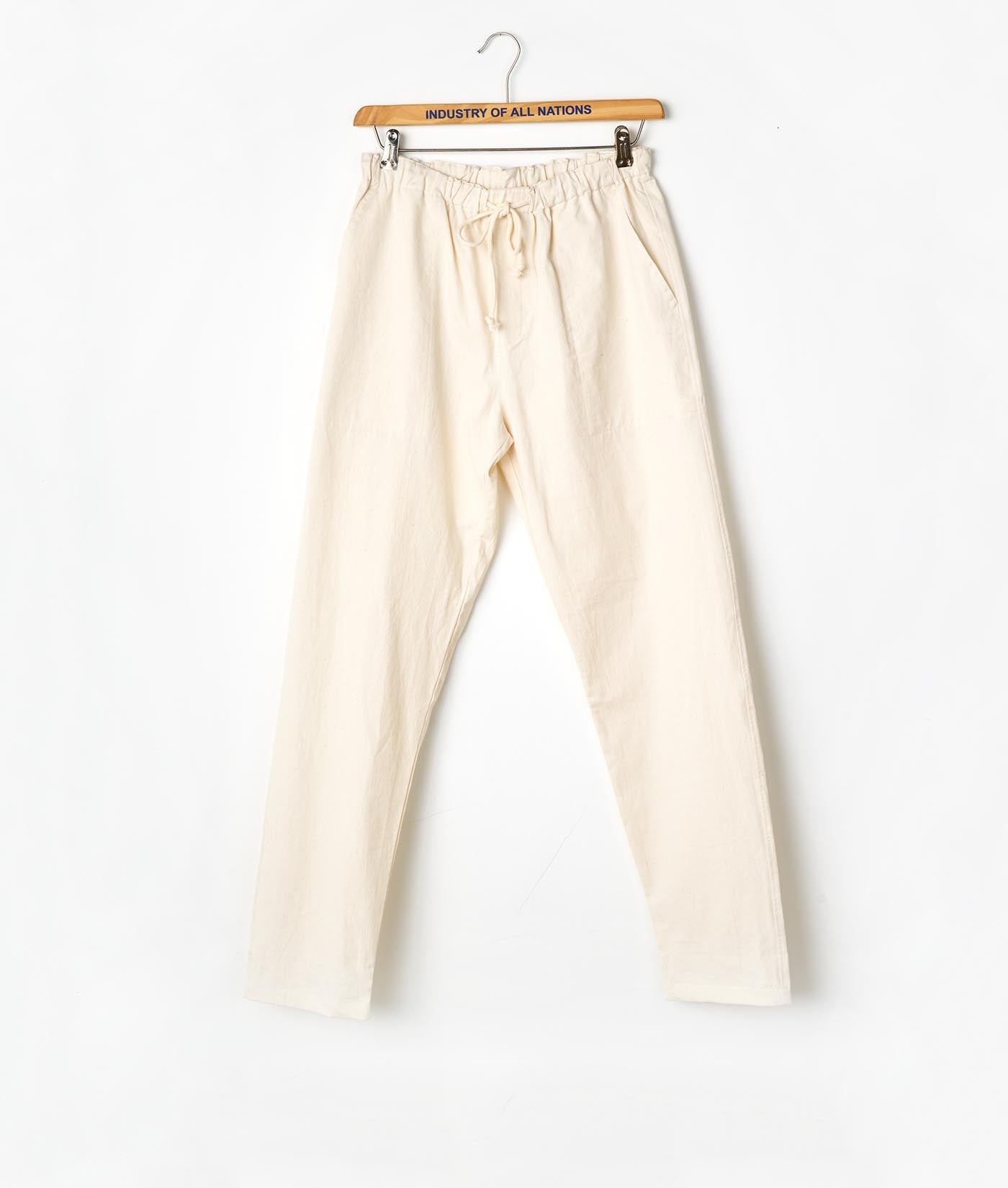 Industry of All Nations Organic Cotton Drawstring Pants Natural
