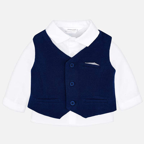 Mayoral Baby Boy's Navy 3 Piece Shorts Suit Set