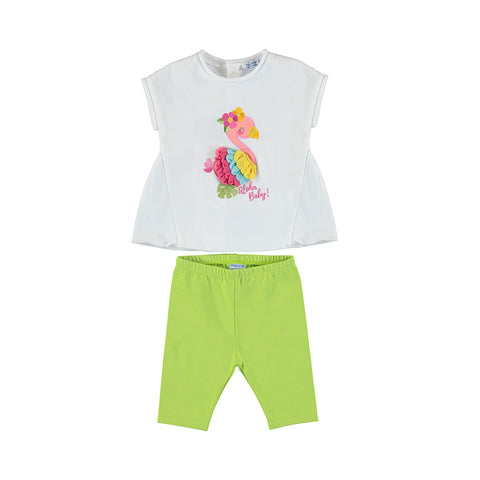 Mayoral Baby Girl's Two Piece Flamingo Set