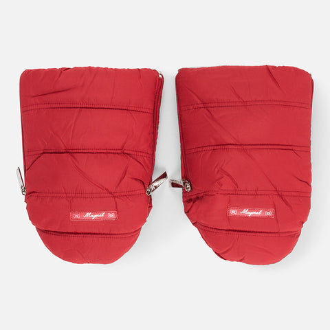 Mayoral Red Microfiber Pram Handwarmer Gloves