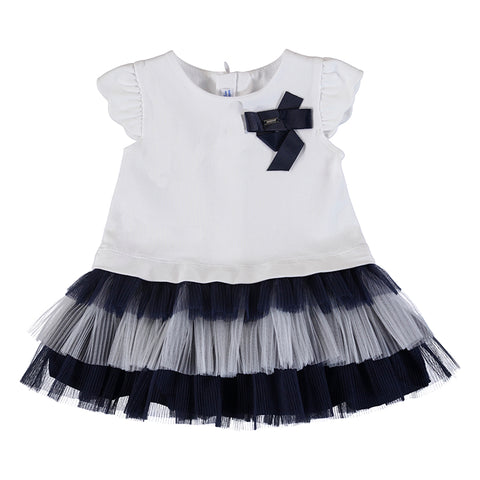 Mayoral Baby Girl's Navy And White Dress