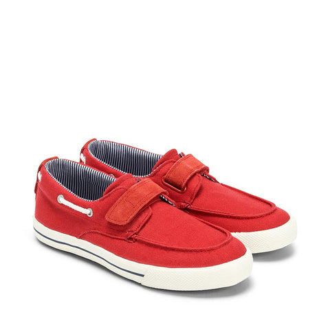 Mayoral Red Fabric Boat Shoes