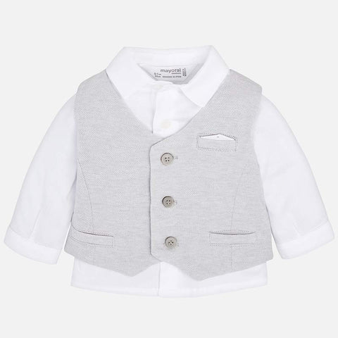 Mayoral Baby Boy's Grey 3 Piece Shorts Suit Set