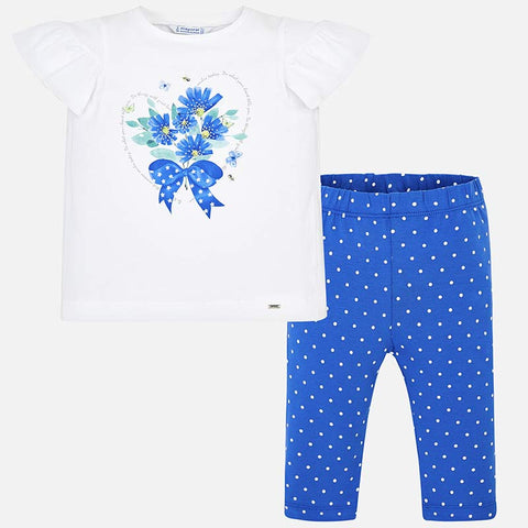 Mayoral Girl's T shirt With Cropped Leggings Set