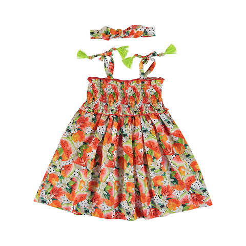 Mayoral Girls' Cotton Dress Set