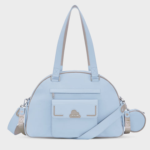 Mayoral Pale Blue Baby Bag With Dummy Holder