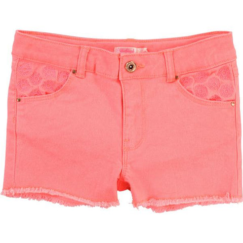 Billieblush Girls Pink Denim Shorts