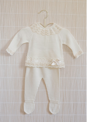 Dolce Petit Neutral Knitwear Set
