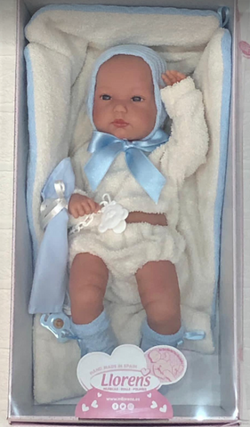 Baby Boy Doll with Fleecy Blanket