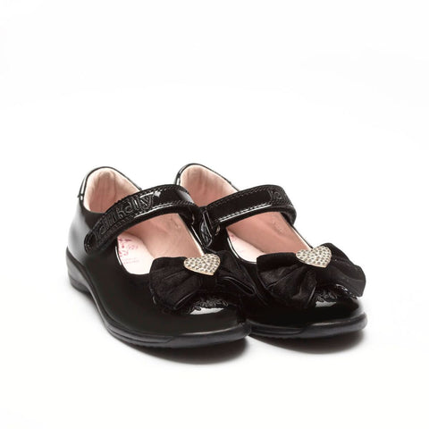 Lelli Kelly Begonia Black Patent School Shoes