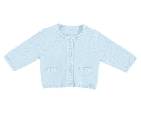Mayoral Baby's Sky Blue Cotton Cardigan