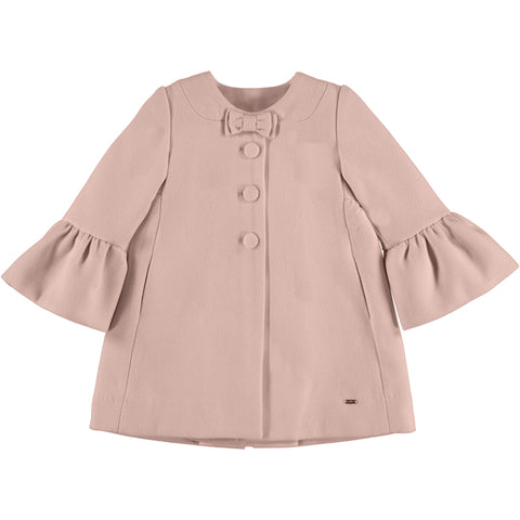 Mayoral Girl's Pink Mouflon Ruffle Coat