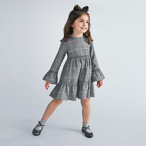Mayoral Girl's Prince Of Wales Checked Dress