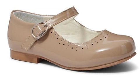 Girl's Camel Mary Jane Shoes