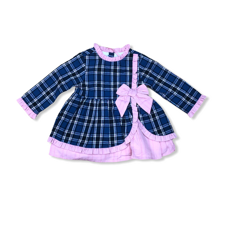 Spanish Baby Girl's Pink Checked Dress