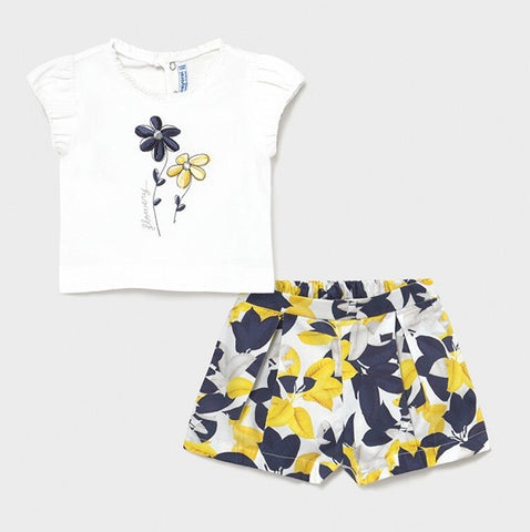 Mayoral Baby Girl's Flower Short Set