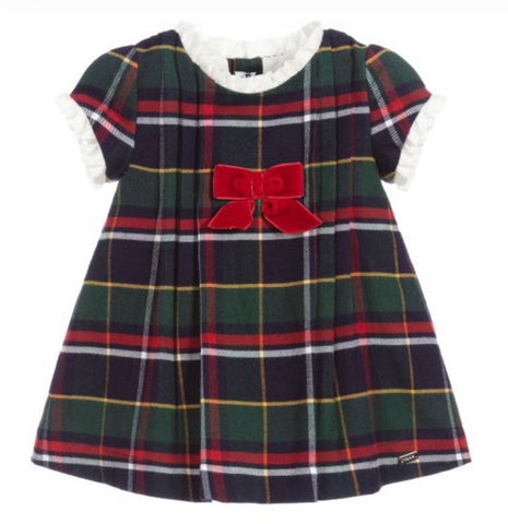 Mayoral Baby Girl's Green & Blue Tartan Dress