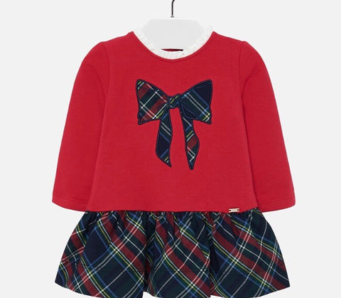 Mayoral Baby Girl's Red Dress With Bow Design