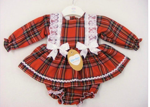 Kinder Baby Girl Two Piece Tartan Checked Set