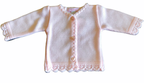 Premature Baby Girl's Pink Cardigan