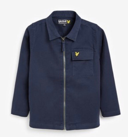 Lyle & Scott Boy's Navy Blue Jacket/Overshirt
