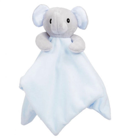 Soft Touch Blue  Baby Elephant Comforter