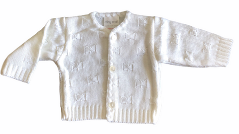Premature Baby's Cream Cardigan