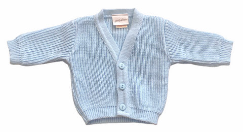Baby Boy's Pale Blue Knitted Cardigan