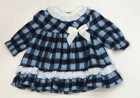 Miranda Baby Girl's Blue Checked Dress