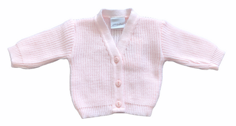 Premature  Baby Girl's Pink Knitted Cardigan