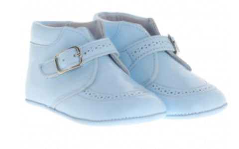 Pretty Originals Baby Boy's Patent Blue Shoes