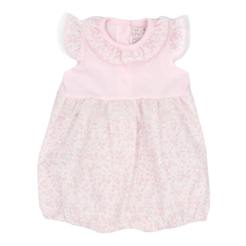 Rapife Baby Girl's Pink And Floral Romper