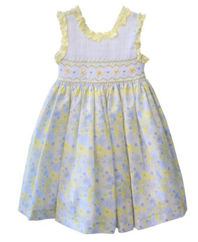 Pretty Originals Baby Girl's Lemon Smocked Dress