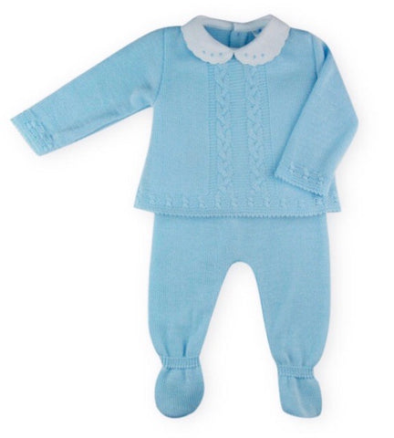 Sardon Baby Boy's Two Piece Knitted Set With Collar